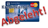 kreditkarte abgelehnt