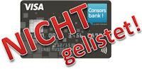 Consorsbank nicht gelistet