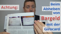 Bargeld abheben Girocard