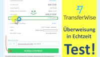 Transferwise Überweisung Echtzeit