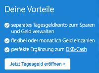 DKB Tagesgeld online eröffnen