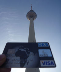 Berlin TV Tower and DKB Visa Card