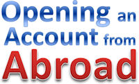opening an account from abroad