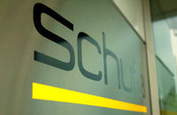Schufa logo on a wall