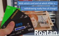 withdraw money roatan
