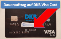 DKB Visa Card Dauerauftrag